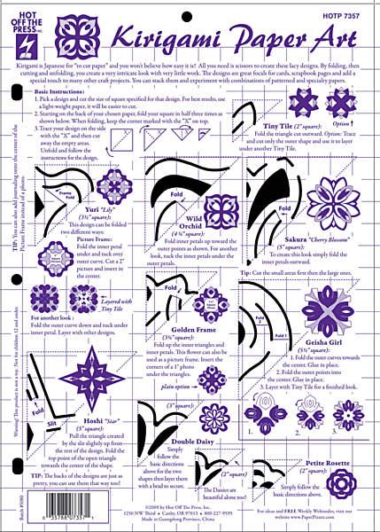 Plastskabelon kirigami paper art creative papir for Kirigami paper art