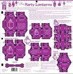 Plastskabelon - Mini Party Lanterns